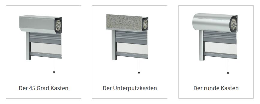 Aufsatzrollladen Montage Varianten