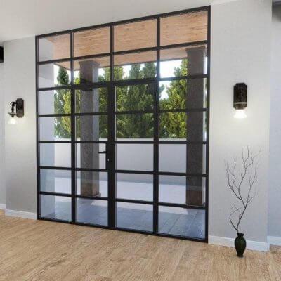 Türen Metall Glas Steelline
