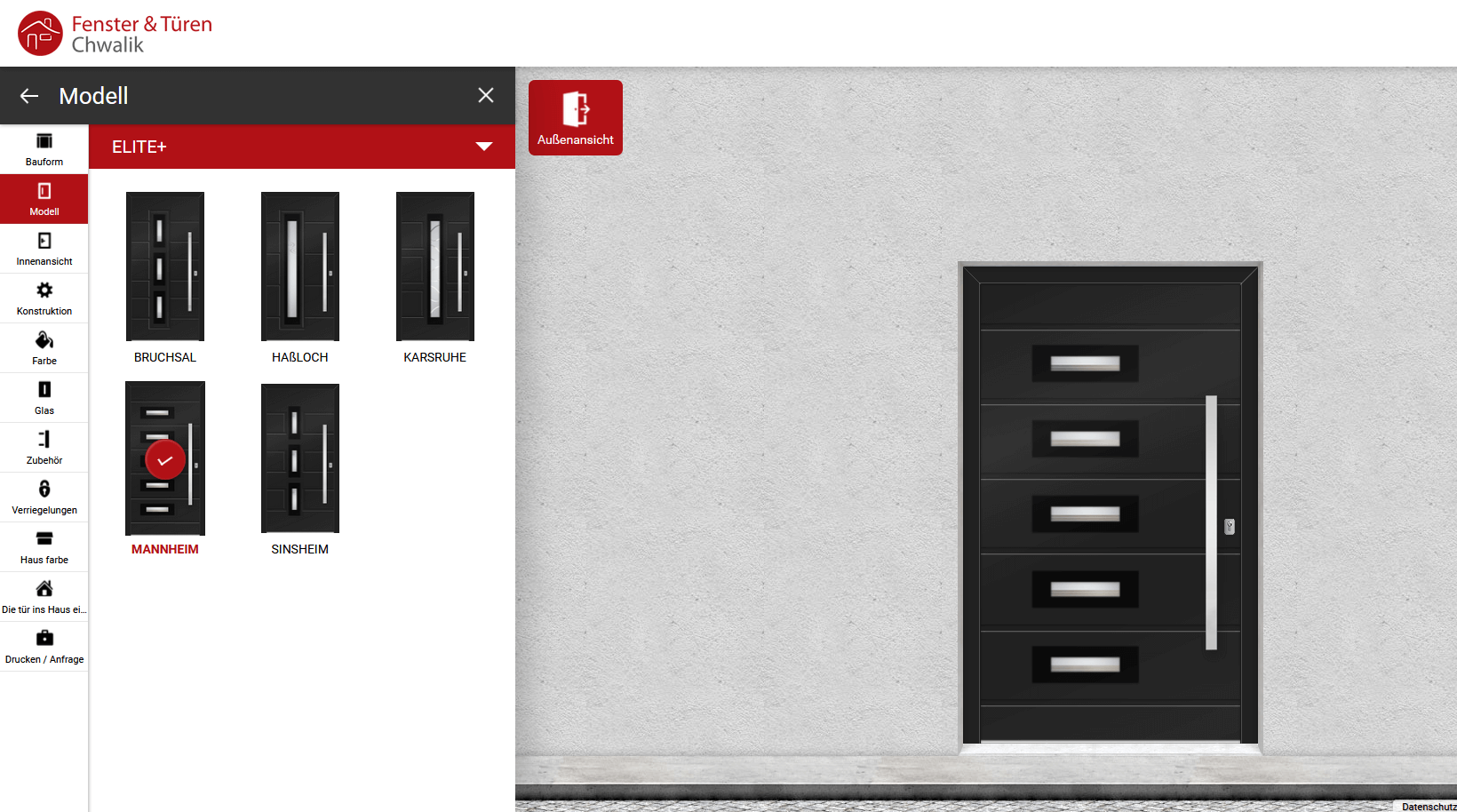 Haustürkonfigurator Türenkonfigurator